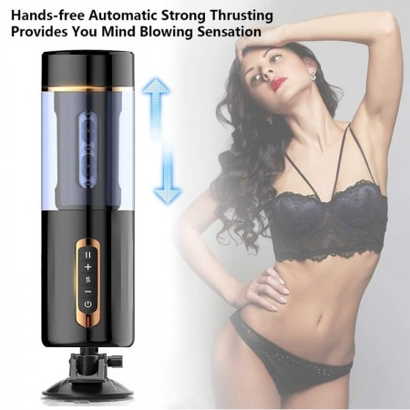 Automatic Fuck India Hands Free Male Masturbator Electric 3D Realistic Vagina Vibrating Male Sex Toy