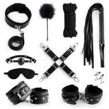 BDSM Bondage Set India 10 Pcs Furry Leather Bondage Restraints Kits Sex Toys for Couples
