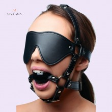 Blindfold Harness and Ball Gag Adult Sex Toys BDSM