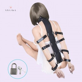 Bondage Restraints Fetish Sexy Strict Armbinder With Collar Set Sexy Slave Fetish Harness Restraint Kit