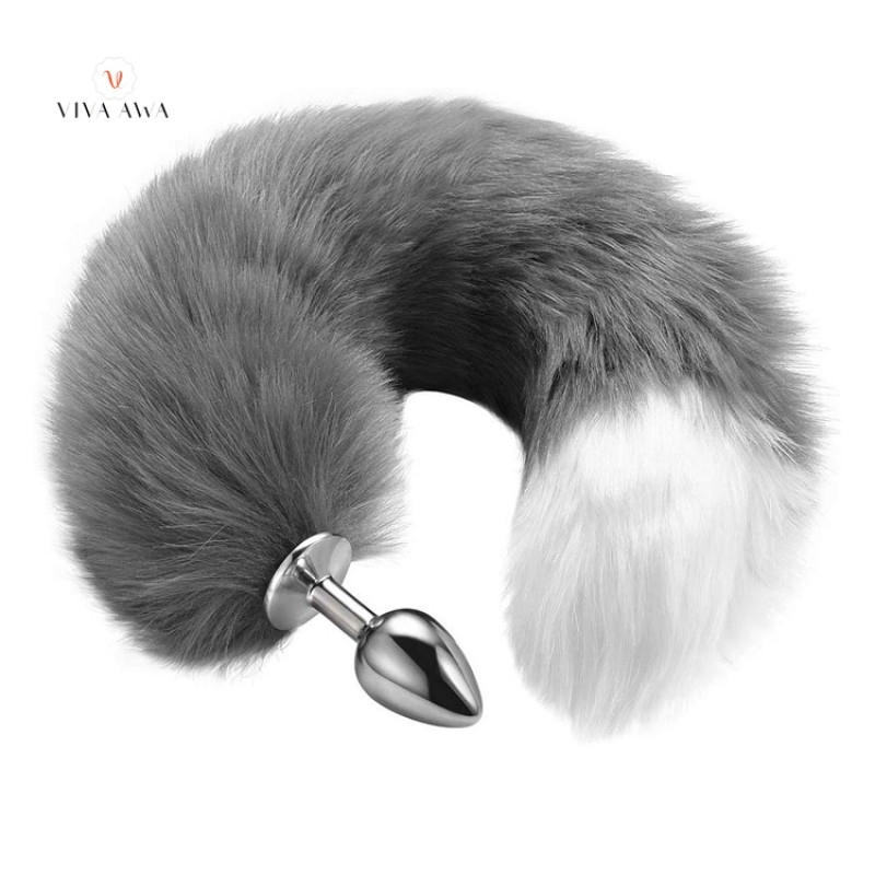 Butt Plug Fox Tail Stainless Steel BDSM India Roleplay Plug