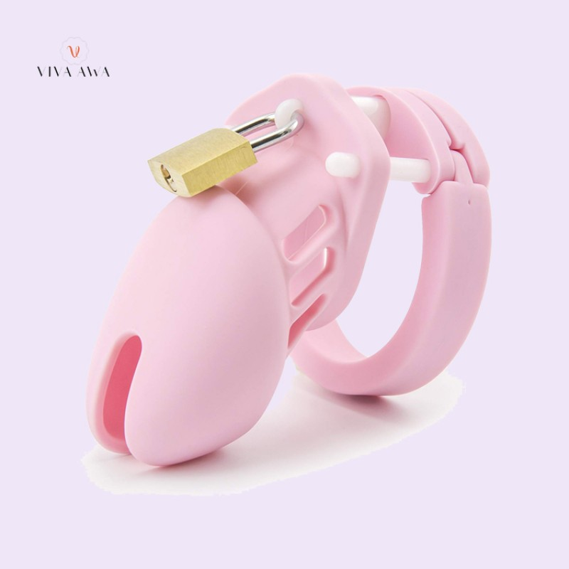 Cock Cage Chastity Cage Silicone Chastity Device Pink