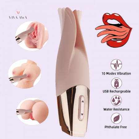 Couple Vibrator Clitoral 10 Mode Vibrator India Clit Nipples Female Sex Toys