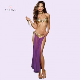 Gold Captive Princess Role Play India Sexy Lingerie