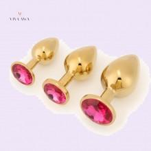 Jeweled Plug Golden Princess Plug 3 Pieces Set India