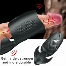 Penis Training 10 Modes India Sexual Endurance Handheld Liquid Silicone Vibrating Male Masturbator Waterproof