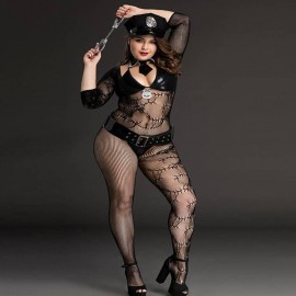 Plus Size Sexy Role Play Police Perspective Lingerie Kits India