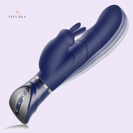 Rabbit Vibrator India G-spot  Clitoris Stimulation Rechargeable Waterproof 10x10 Vibration Modes Dual Motors Sex Toy for Women