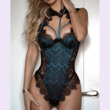 Sexy Lingerie Lace Mesh Padded Bodysuit
