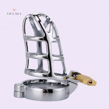 Stainless Steel Penis Sleeve Lock Cock Device Tool Male Chastity Cage