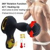Vibrating Anal Sex Toy India Heating Wireless Remote Anal Butt Plug Prostate Massager 3 Speeds Rotating 10 Speeds Vibrating