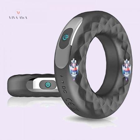 Vibrating India Penis Cock Ring Waterproof Powerful 10 Modes Vibration