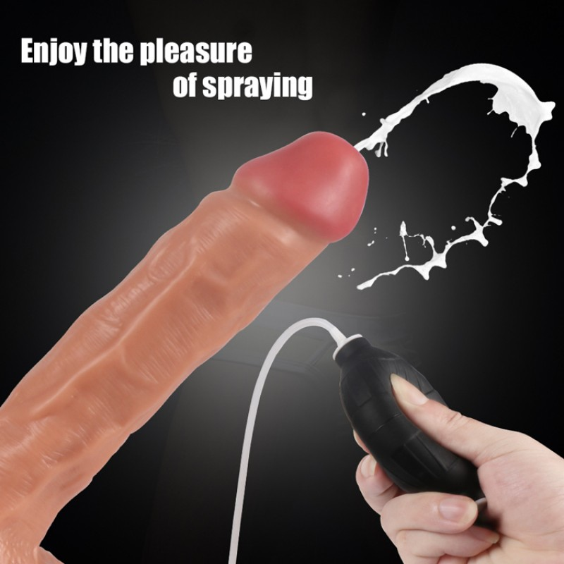 Water Spray Dildo Sex toys for Women Silicone Simulation ejaculation Lifelike Bendable Penis Cock