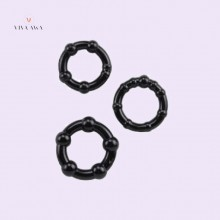 Cock Ring Set 3 Pieces Black Male Sex Toys