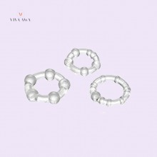 Cock Ring Set 3 Pieces Transparent Male Sex Toys