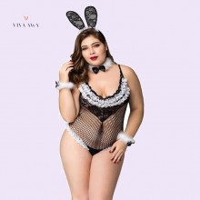 Fat Sexy Lingerie Role Play Sexy Creux Lapin Fille Grande Taille