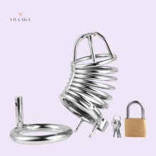 Steel Penis Chastity Device  with lock Sex Toy for Men